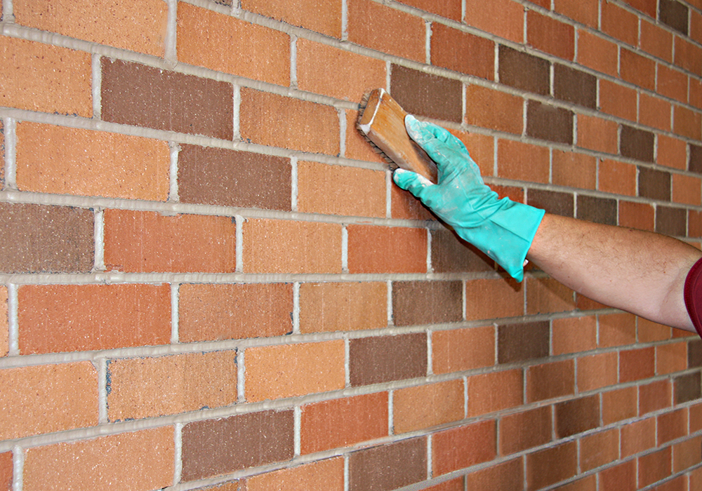 How To Clean Grout Off Tile >> Thin Brick Wall Installation | Royal Thin Brick